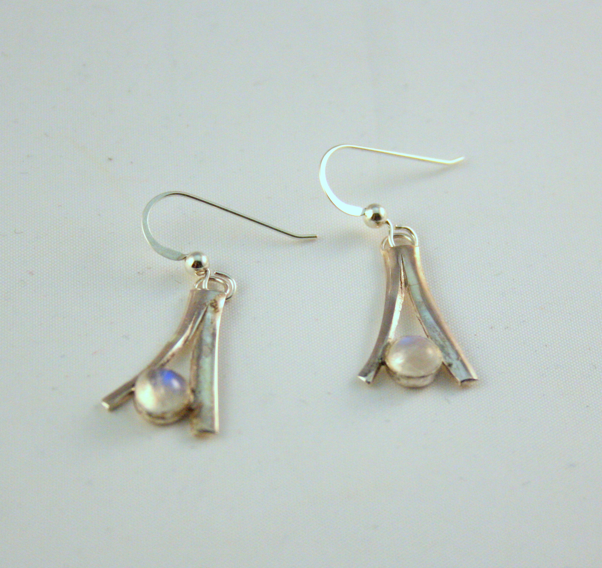 Silver & Moonstone Earrings