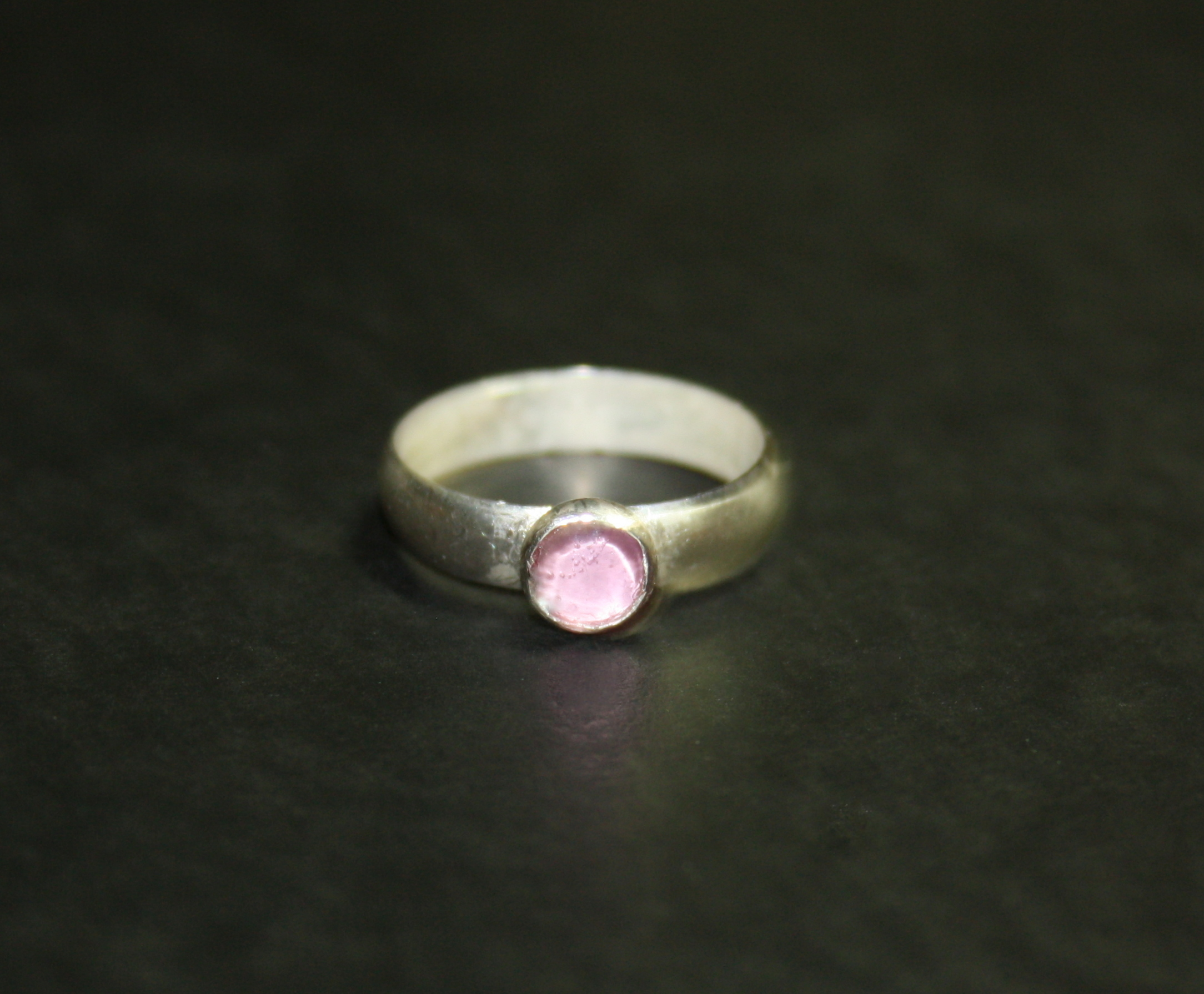 Pink Sapphire Wideband Ring
