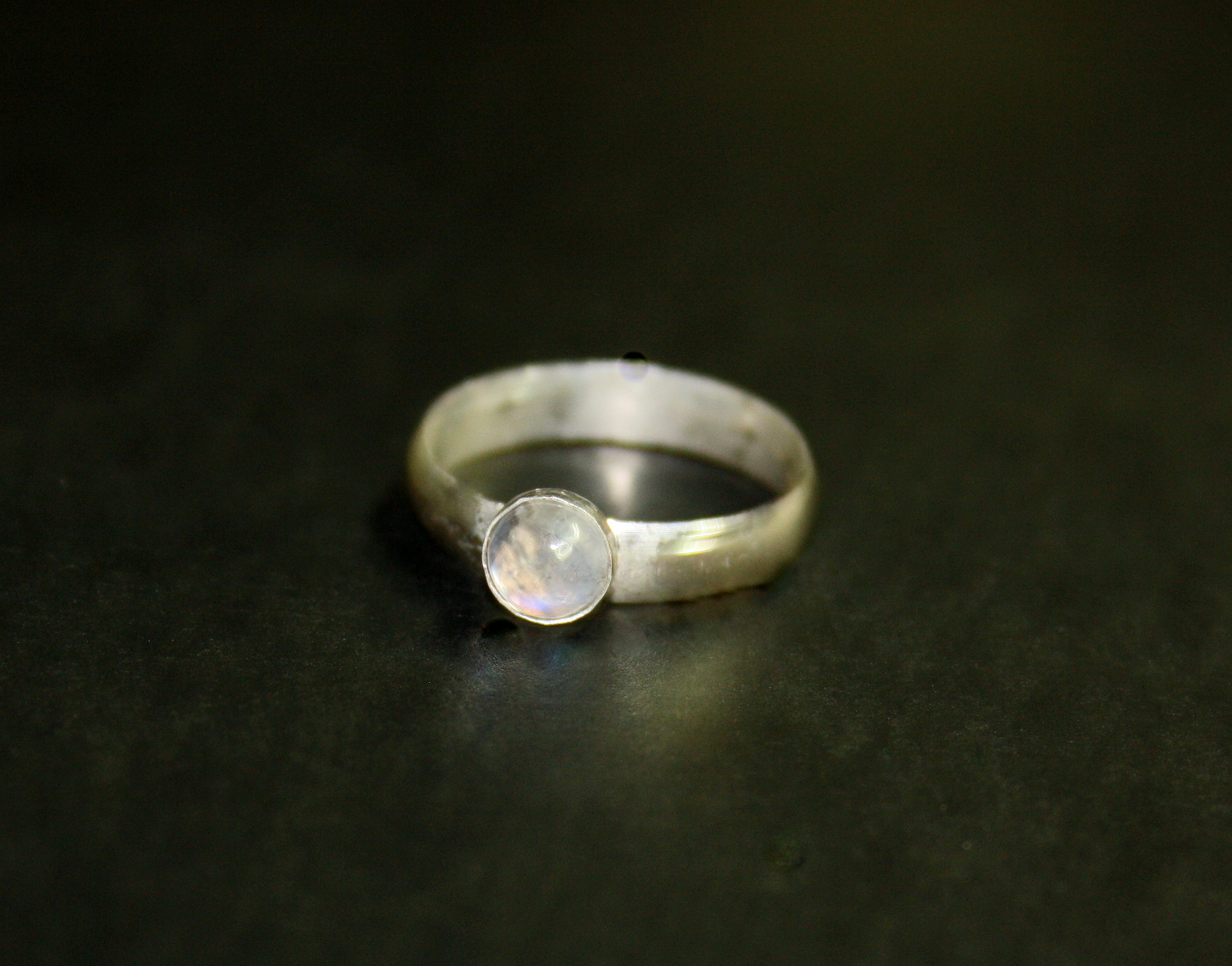 Wideband Rainbow Moonstone Ring